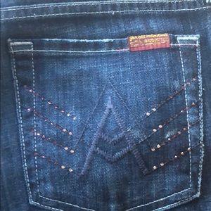 Dark Blue Jeans w// A Pocket&Pink Rhinestones